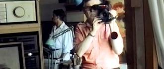 Kadr z filmu VHS nakręconego przez Zdzisława Beksińskiego. Zbiory Muzeum w Sanoku