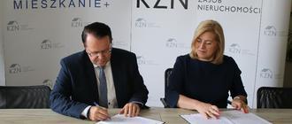 Arkadiusz Urban, p.o. prezesa KZN i Jolanta Kaźmierczak, zastępca prezydenta Rzeszowa