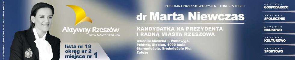 Dr Marta Niewczas, kandydatka na prezydenta Rzeszowa i radną miasta Rzeszowa