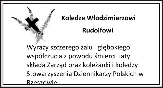 Koledze Włodzimierzowi Rudolfowi