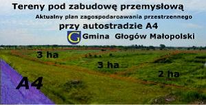 Tereny pod zabudowę przemysłową w gminie Głogów Małopolski