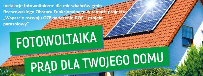 """""""Wsparcie rozwoju OZE na terenie ROF – projekt parasolowy"""
