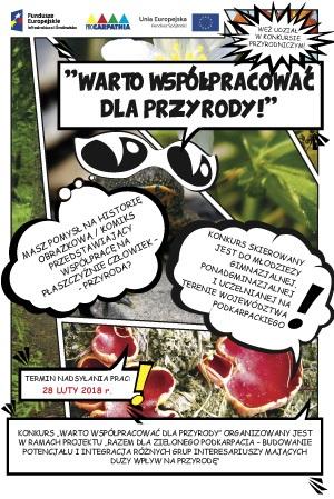 Konkurs Warto wspólpracować dla przyrody - element projektu Razem dla Zielonego Podkarpacia