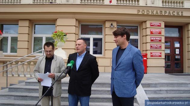 Od lewej: Ireneusz Dzieszko, Damian Małek i Błażej Wilk. Fot. Dorota Zańko