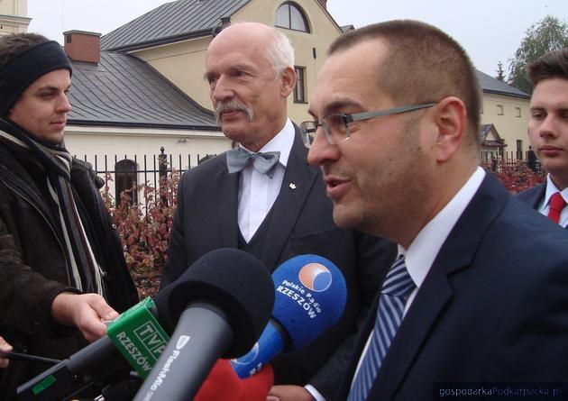 Janusz Korwin-Mikke i Ireneusz Dzieszko. Fot. Dorota Zańko
