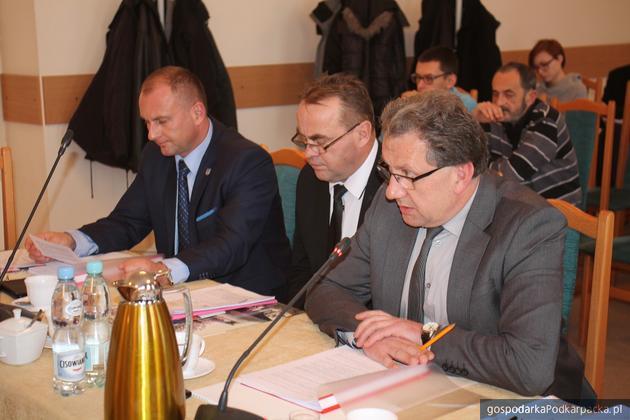 Pierwszy z prawej starosta Tadeusz Chrzan. Fot. Archiwum