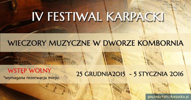 IV Festiwal Karpacki 2015 w Dworze Kombornia