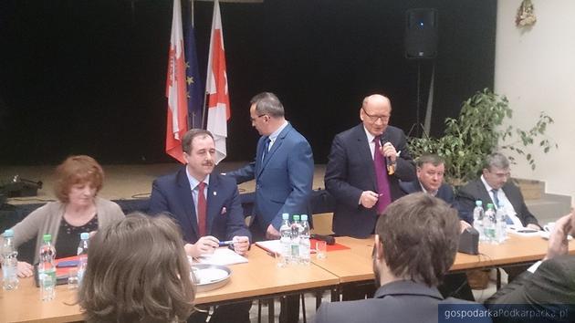 Jedno ze spotkań zorganizowanych przez zwolenników połączenia Rzeszowa i Krasnego. Fot. Archiwum