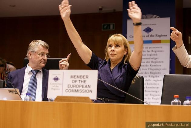 Komisarz Unii Europejskiej Elżbieta Bieńkowska. Fot. Komitet Regionów