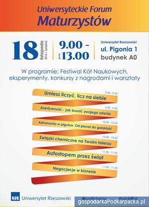 Uniwersyteckie Forum Maturzystów już 18 listopada