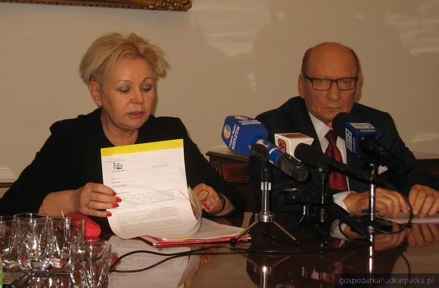 Od lewej Krystyna Skowrońska i Tadeusz Ferenc. Fot. Adam Cyło