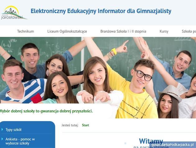 Internetowy przewodnik po szkołach ponadgimnazjalnych w powiecie jarosławskim