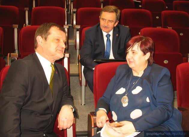 Od lewej Jerzy Cypryś, Wojciech Buczak i Krystyna Wróblewska