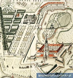 Plan Rzeszowa wykonany przez Karola Henryka Wiedemanna w 1762