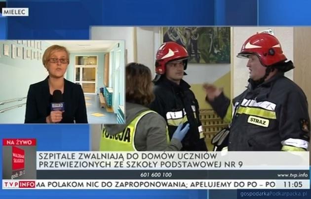 Po ewakuacji szkoły podstawowej nr 9 w Mielcu