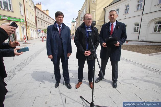 Od lewej Jerzy Jęczmienionka, Marcin Fijołek i Grzegorz Koryl. Fot. Virtus