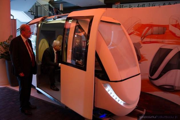 Prototyp kabiny pojazdu PRT. Fot. eco-mobilnosc.pw.edu.pl