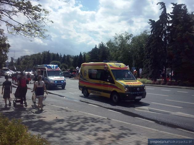Protest ratowników medycznych w Rzeszowie