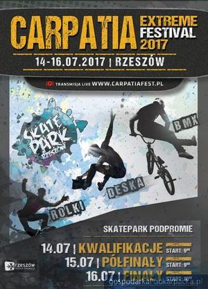 Carpatia Extreme Festival na skateparku w Rzeszowie