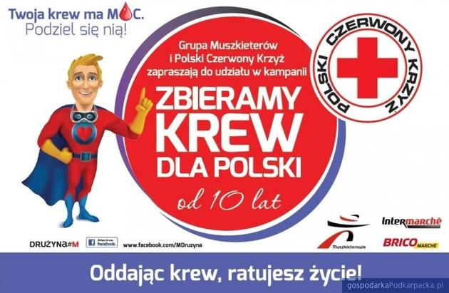 """Akcja """"Zbieramy krew dla Polski"""" w Rzeszowie"""