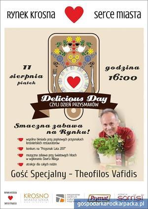 Dzień Przysmaków na krośnieńskim Rynku z Theofilosem Vafidisem