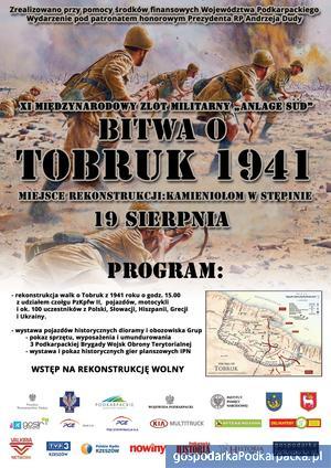 Rekonstrukcja walk o Tobruk w Stępinie