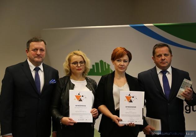 Reprezentanci nagrodzonych samorządów