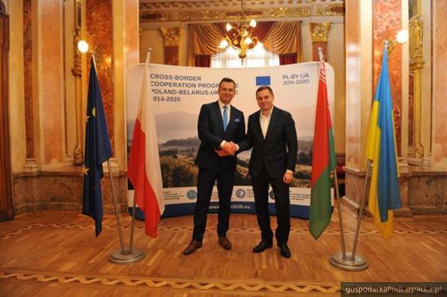 Od lewej Adam Hamryszczak i Michaiło Titarczuk