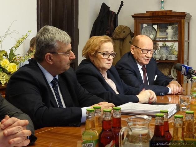 Od lewej Marek Ustrobiński, Anna Kowalska i Tadeusz Ferenc. Fot. Adam Cyło