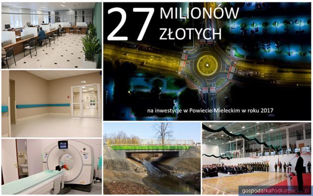 Starostwo w Mielcu podsumowało inwestycje w 2017 r.