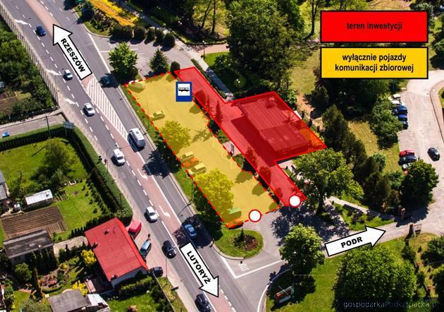 Przebudowa minidworca autobusowego w Boguchwale