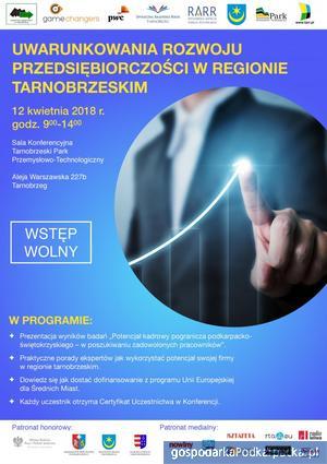 """""""Uwarunkowania rozwoju przedsiębiorczości w regionie tarnobrzeskim""""- konferencja"""