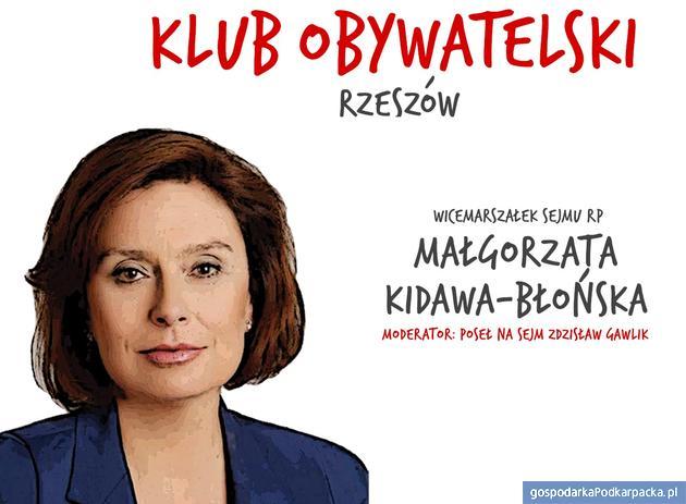 Małgorzata Kidawa-Błońska będzie na Podkarpaciu