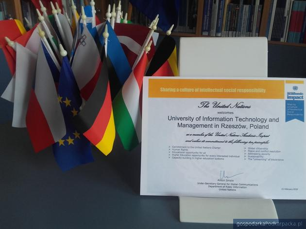 WSIiZ z certyfikatem United Nations Academic Impact
