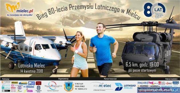 Bieg po pasie lotniska w Mielcu