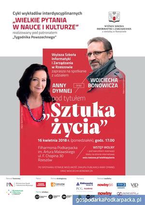 Spotkanie z Anną Dymną i Wojciechem Bonowiczem w Filharmonii Podkarpackiej