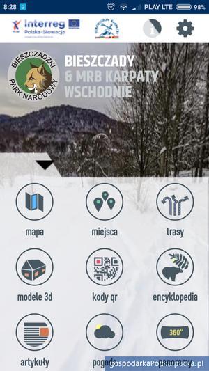 """Nowa aplikacja """"Bieszczady & MRB Karpaty Wschodnie"""""""
