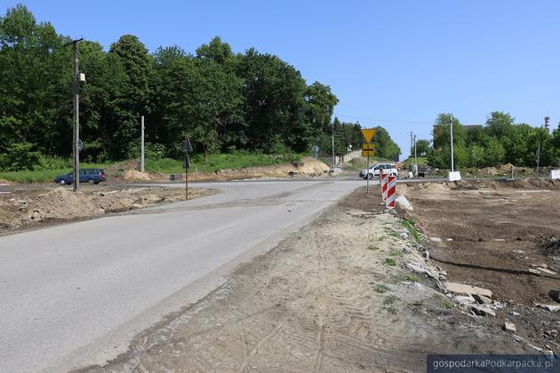 Trwa budowa zjazdu z autostrady A4 do Jarosławia