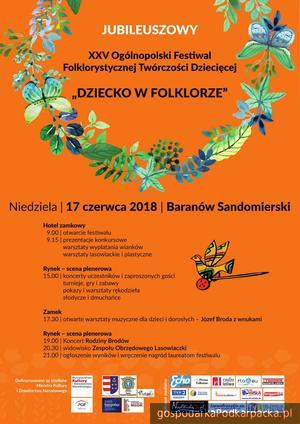 """XXV Ogólnopolski Festiwal """"Dziecko w Folklorze"""" już 17 czerwca"""