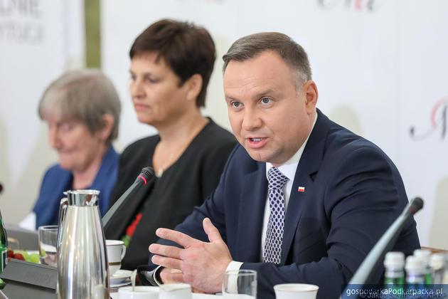 Prezydent Andrzej Duda podczas spotkania Narodowej Rady Rozwoju dotyczącego referendum. Fot. Jakub Szymczuk/KPRP