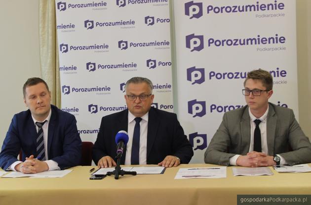 Od lewej Waldemar Kotula, Stanisław Kruczek i Radosław Mrozowicz