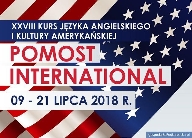 """Kurs Języka Angielskiego i Kultury Amerykańskiej """"Pomost International"""" 2018 w Rzeszowie"""
