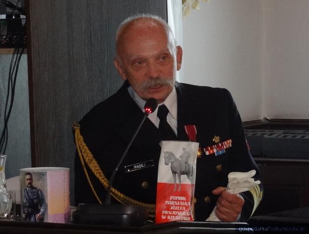 Komandor porucznik Tomasz Madej, działacz Związku Piłsudczyków i członek Komitetu Budowy Pomnika