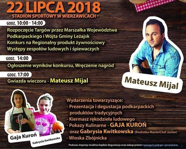 """""""Smaki regionów"""" - impreza z Mateuszem Mijalem i Gają Kuroń"""