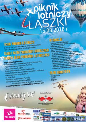 Piknik Lotniczy w Laszkach już 15 sierpnia 2018