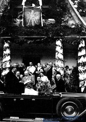 Prezydent Mościcki podczas wizyty w Wydrnej w 1929 roku
