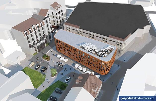 Pawilon Różanka, widok z góry, znad ulicy Trzeciego Maja, fot. MWM Architekci