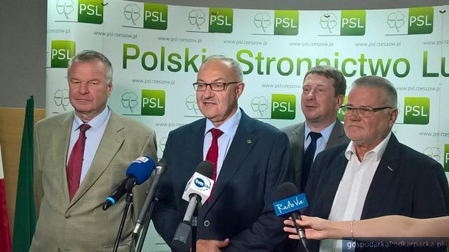 Od lewej Edward Słupek, Mieczysław Kasprzak, Zbigniew Micał i Stanisław Kościelny