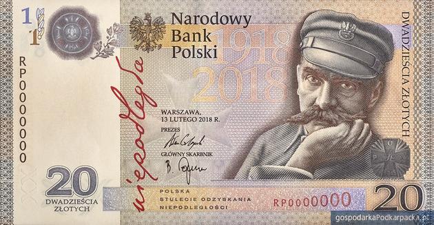 """Nowy banknot kolekcjonerski NBP – """"Niepodległość"""" z Józefem Piłsudskim"""