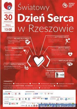 Światowy Dzień Serca 2018 w Rzeszowie. Wystąpi Weronika Curyło